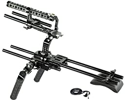 CAMTREE Hunt FS700 Camera Cage Rig with Rosette Handles for Sony Nex FS700 | Shoulder Stabilizer with Free Storage Cage & Accessories (CH-FS700-RIG1)