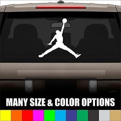 Jordan Jumpman Window Die Cut Decal Sticker Vinyl Car - Many Colors & Sizes front-205988