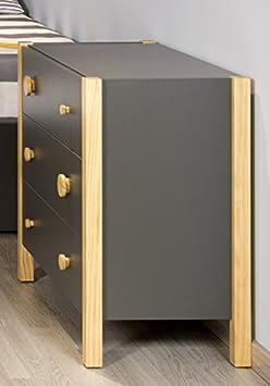 Venta-Muebles - Comoda 3 cajones blanca / madera mod. teyo
