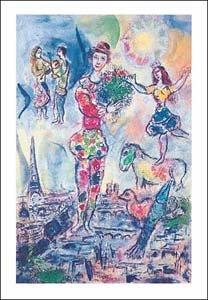 ポスター マルク シャガール Sur les toits de Paris