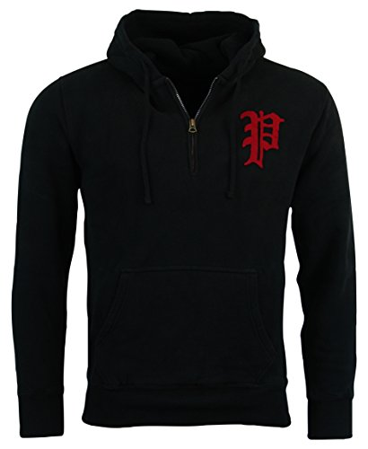 Polo Ralph Lauren Half-Zip Fleece Hooded Sweatshirt - L - Black (Ralph Lauren Thermal Hoodie compare prices)