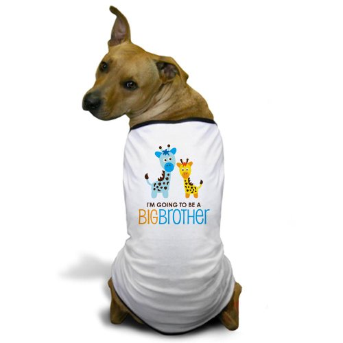 CafePress - Giraffe going to be a Big Brother Dog T-Shirt - Dog T-Shirt, Pet Clothing, Funny Dog Costume (Custom Dog Shirt compare prices)