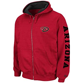 MLB Arizona Diamondbacks Cold Fire Hooded Full Zip Fleece by Majestic