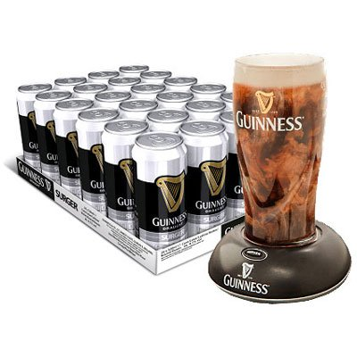 Guinness Surger - Case of 24 x 520ml cans for use with FREE GUINNESS SURGER (for pub quality Guinness)