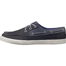Helly Hansen Men\'s Framnes Boat Shoe, Mid Grey/Ebony/Lake Purple, 11.5 M US
