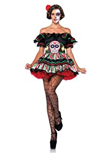 Leg Avenue Day Of The Dead Doll Halloween Costume - 85293 (Women: 14)