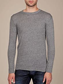 Men's Long-Sleeve Eco-Heather Crew
