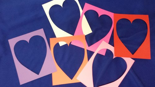 Valentines Hearts Cut Out Middle