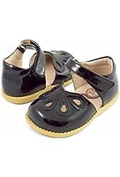 Livie & Luca Black Petal Shoes (Little Girls)