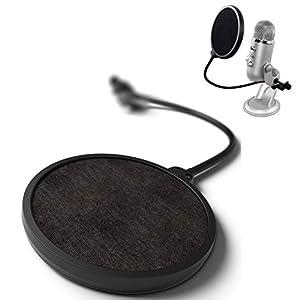 ZRAMO® Studio Microphone Mic Wind Screen Pop Filter for Blue Yeti/ Swivel Mount / Mask Shied For Speaking Recording -Black