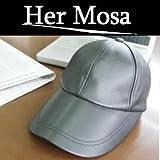 送料無料★《男女兼用》本格オイルレザー牛革仕様キャップ『Her Mosa(ヘアモサ)小顔帽子』