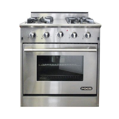 NXR-DRGB3001-30-Pro-Style-Gas-Range-With-4-Sealed-Burners-42-cu-ft-Manual-Clean-Convection-Oven-and-Infrared-Broiler-in-Stainless
