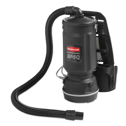 Rubbermaid Commercial Executive Series Backpack Vacuum, 6 Qt, Black, 50Ft Cord - One Backpack Vacuum Cleaner. front-595259