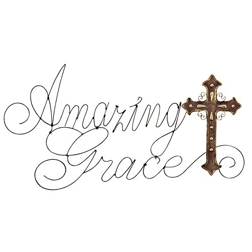 Amazing Grace Metal Cross Wall Art