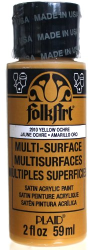 Folk Art Multi Surface Paint, 2-Ounce, Yellow Ochre front-923126