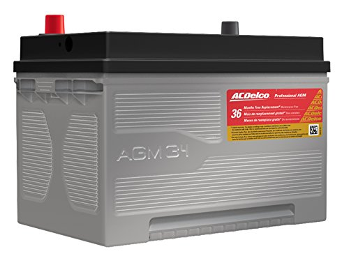 Acdelco 34Agm Professional Automotive Agm Bci Group 34 Battery