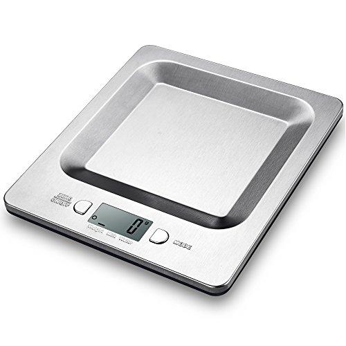 Bilancia da Cucina Topop Bilancia Cucina con 11lb 5kg Capacità di Carico, Bilancia Acciaio Inossidabile per Alimentari con 4 Unità di Misura