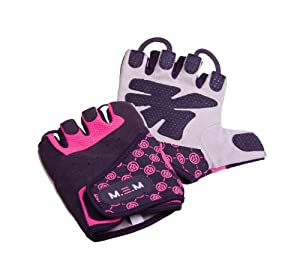 Mem Fitness Womens Female Girls Xtreme Pink Small Fit Gym Gloves from MEM