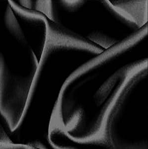 Gorgeous Silky Satin Fabric, Dressmaking, Wedding, Prom - Black - Per Metre