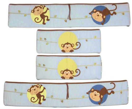 Monkey Crib Bumper front-552533
