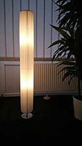 TGHP-120R Standing Lamp 120cm Round Pleated Design White from Trango