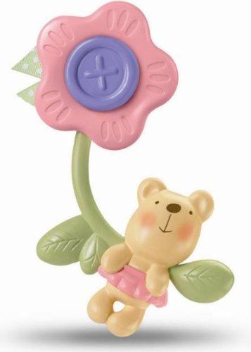 Fisher Price Little Buttons Rattle And Teethe Flower front-111399