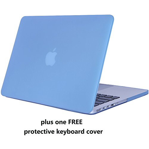 MacBook Pro 13 with Retina Display Case Cover - Treasure21 Premium Nonslip Soft-touch, Snap on, Smart protection case shell for Apple MacBook Pro 13 Retina Display (Serenity Blue) (Macbook Pro 13 Sleeve Light Blue compare prices)