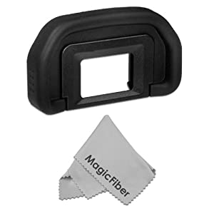 Eyepiece / Eyecup for CANON EOS (7D 1D-C, 1D-X), EOS Mark (5D Mk III, 1D Mk IV, 1D Mk III, 1Ds Mk III) + Premium MagicFiber Microfiber Cleaning Cloth