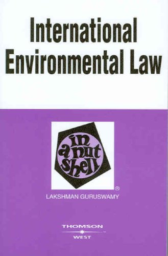 International Environmental Law in a Nutshell (Nutshell Series)