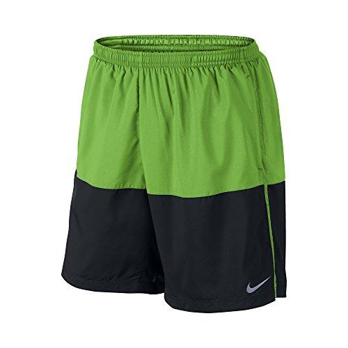 "Nike 7"" Distance Men's Running Shorts, Green Pulse/Black/Reflective Silver, Large"