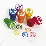 Cute Zoo Animal Pre-Inked Stamps x 6