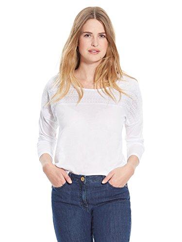 Balsamik - Maglietta con guipure - donna - Size : 54/56 - Colour : Bianco