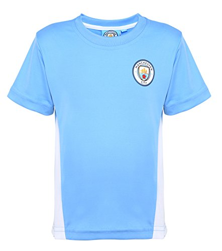 Ufficiale Manchester City FC Junior Replica Camicia - Età 2-13 - Sky - 23