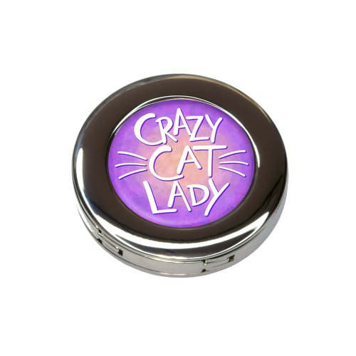 Crazy Cat Lady Foldable Retractable Purse Bag Handbag Hook Hanger Holder