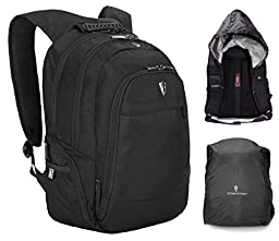 Victoriatourist V6004 Waterproof Laptop Backpack with Rain Hood and Cover for Rainproof, Fits Most 15.6 Inch Laptops