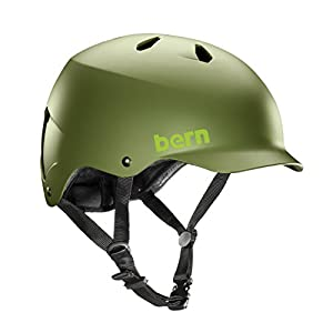 Bern Watts EPS Helmet,L/XL,Matte Fatigue Green Hatstyle