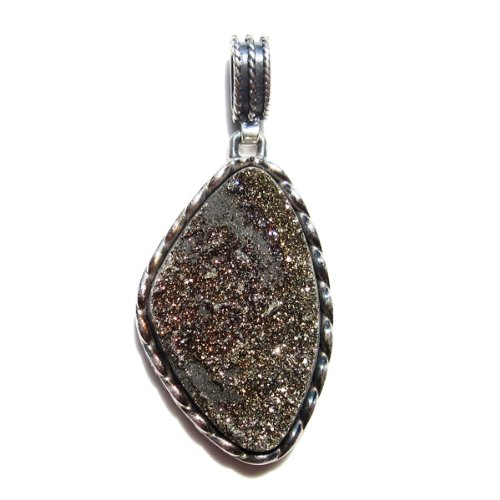 "Pyrite, ""Gold Nugget"" Pendant Set In .925 Sterling Silver On Sale"