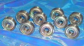 10 Bearing 608ZZ 8x22x7 Shielded 608Z 8mm Bore x 22mm Diameter Miniature Ball Bearings