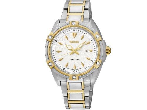 Seiko Damen-Armbanduhr XS Analog Quarz Edelstahl SXDF50P1