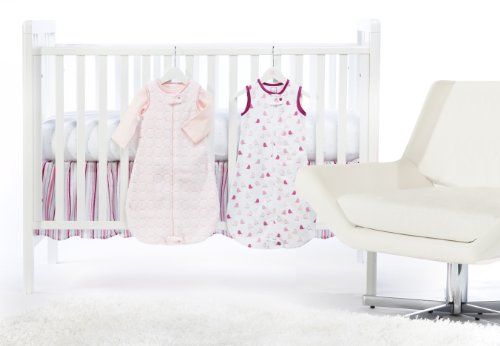SwaddleDesigns 5 Piece zzZipMe Sack Crib Bedding Set with Crib Skirt, Pastel Pink, 3-6months