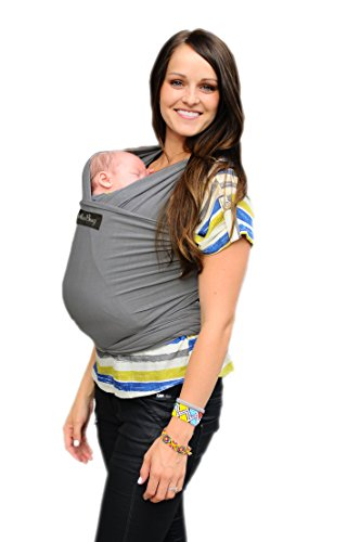 Great Deal! LIFETIME GUARANTEE - CuddleBug Baby Wrap Carrier - Grey Baby Wrap - Free Shipping - ALL ...