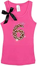 Bubblegum Divas Little Girls 6th Birthday Princess Cheetah Tank Top