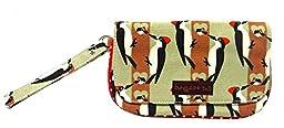Bungalow360 Women\'s Vegan Cotton Canvas Wristlet (Woodpecker)