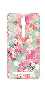 Vogueshell Flower Pattern Printed Symmetry PRO Series Hard Back Case for Asus Zenfone 2