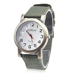 Amazon.com: GLucky Time Quartz Watch Women watches ribbon strap round dial Pin buckle