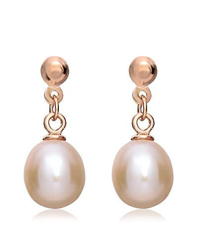 Megan Walford 14K Rose Gold-Plated Cultured Pearl Drop Earrings As You See