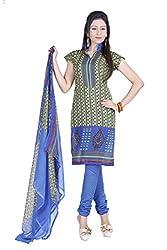 Blue Crepe Dress Material - VD15682
