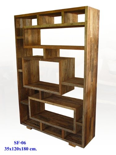 Recycled Teak Wood Book Case Shelves Custom Sizes Available