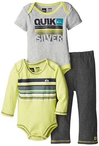 Quiksilver Baby-Boys Infant Lime Long Suit Gray Short Sleeve Body With Pull On Pants, Multi, 18 Months