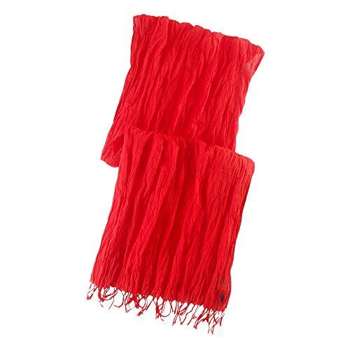 (ポロ ラルフローレン)POLO RALPH LAUREN スカーフ Crinkled Cotton Scarf レッド Red 【並行輸入品】